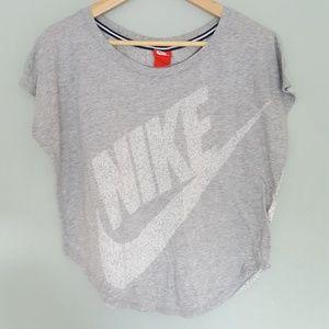 Nike Logo Cap Sleeve Singlet Top